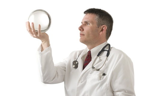 doctor and crystal ball