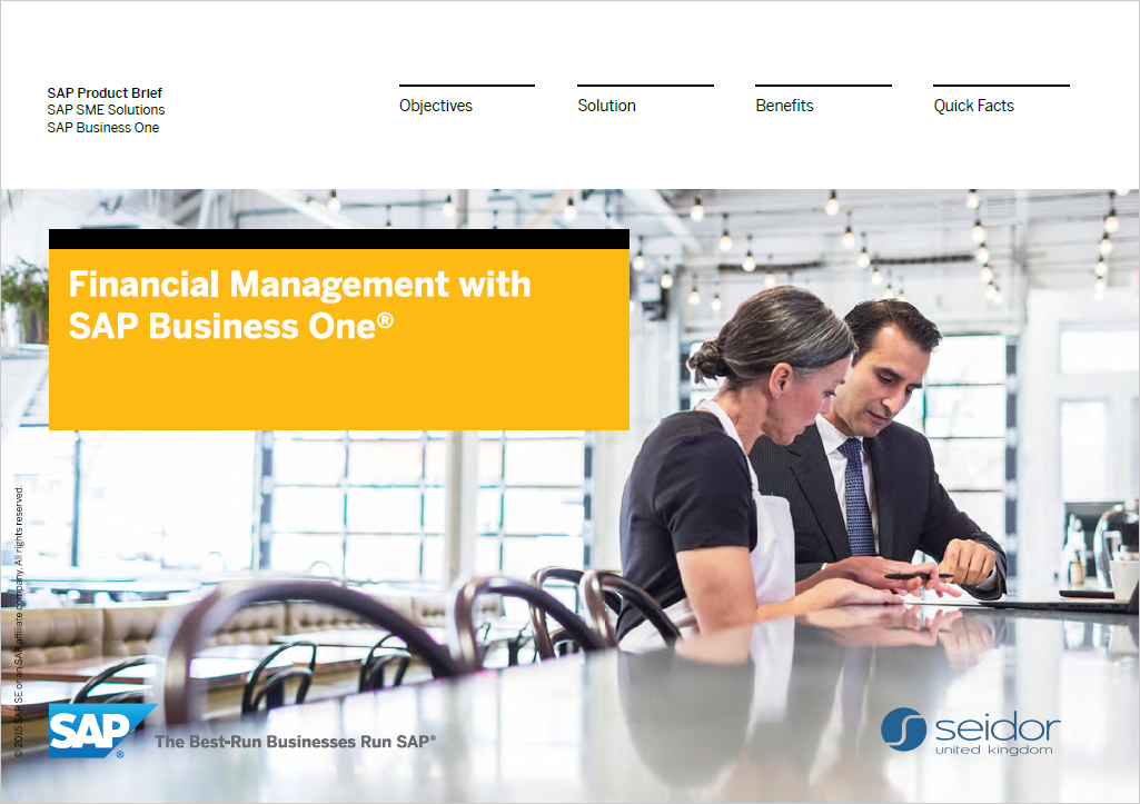 SAP Business One accounting and financial management