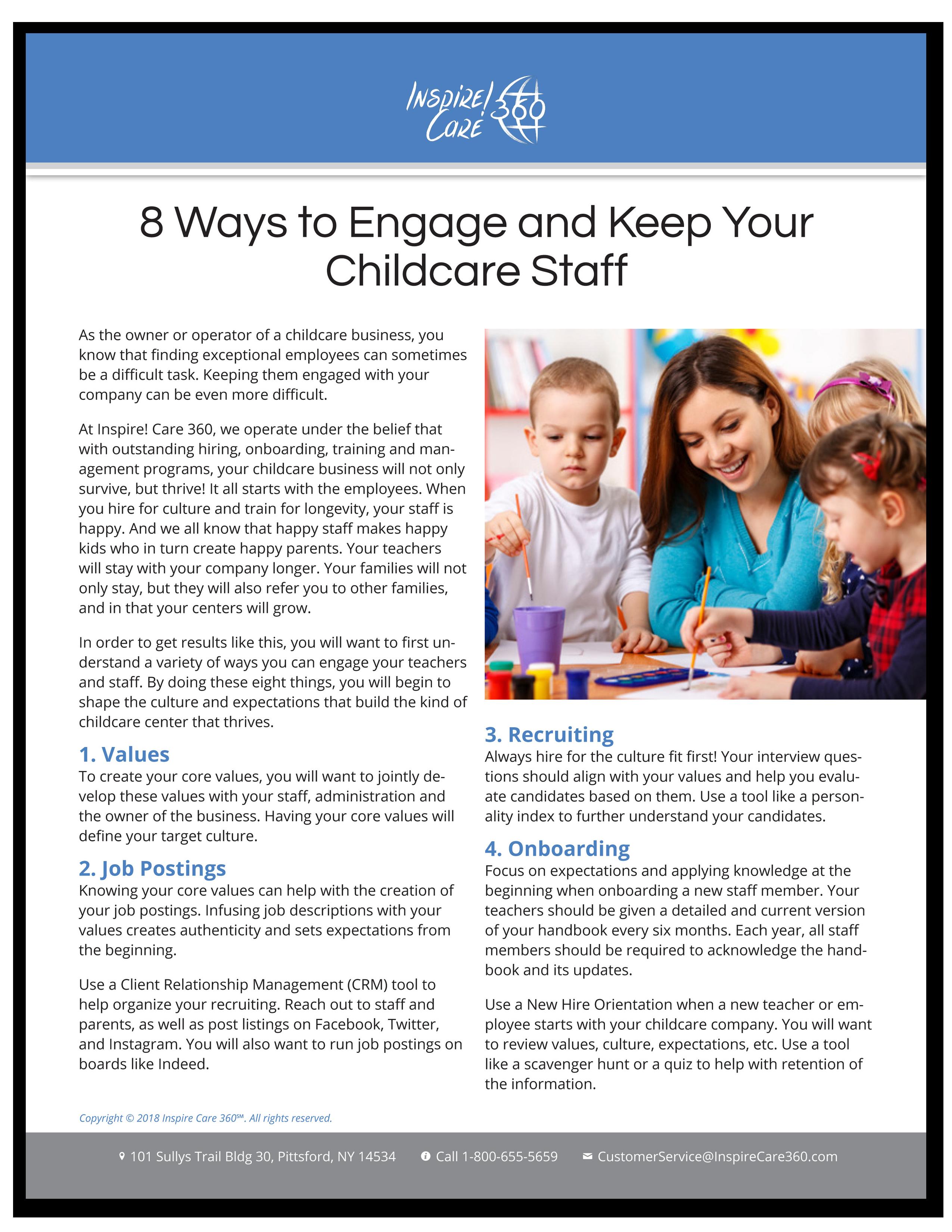childcare staff engagement
