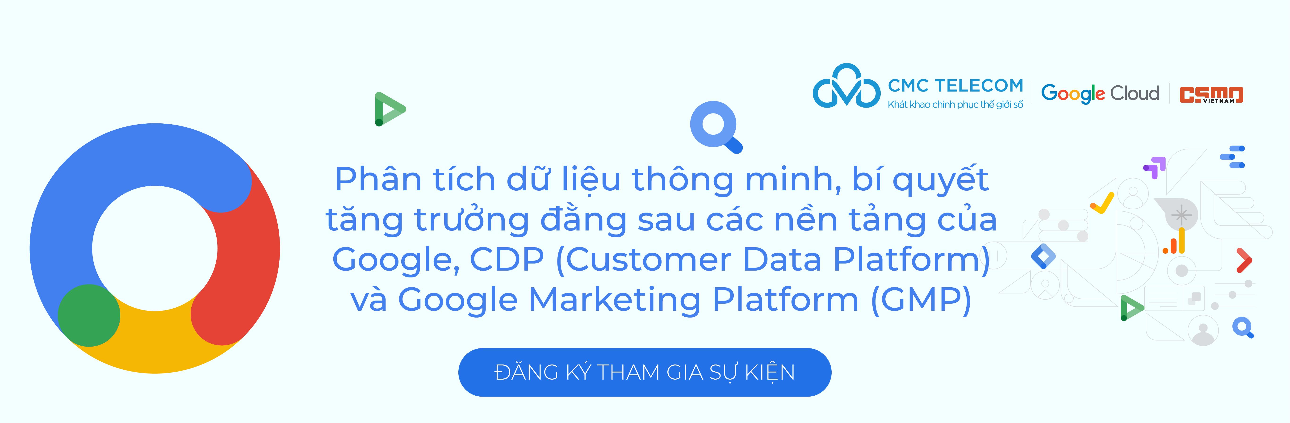 Banner su kien CDP Google Cloud