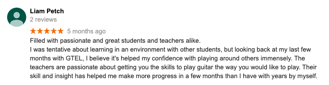 A review of our guitar lessons