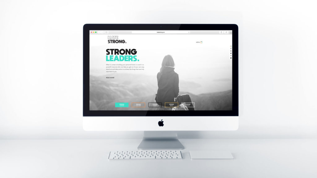 Kate Strong Website mockup