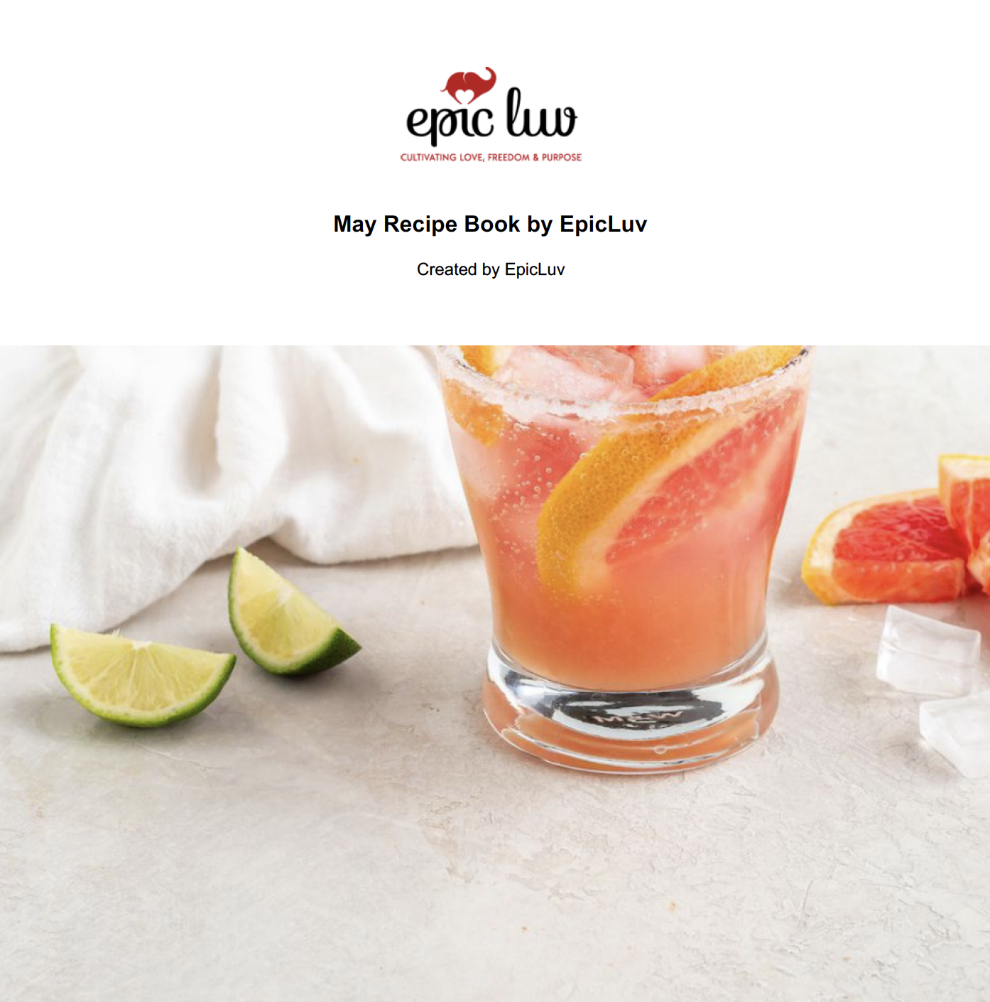 EpicLuv May Recipe Book
