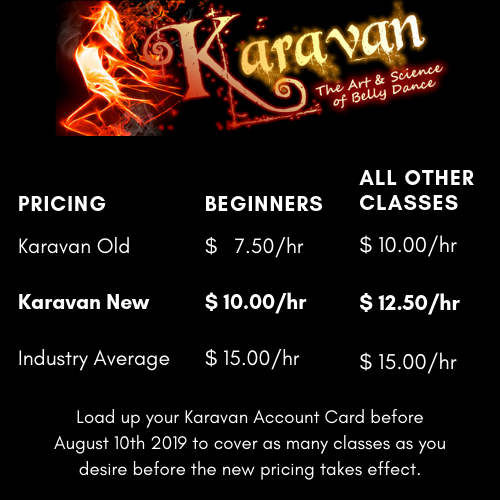 Karavan - New Pricing Grid