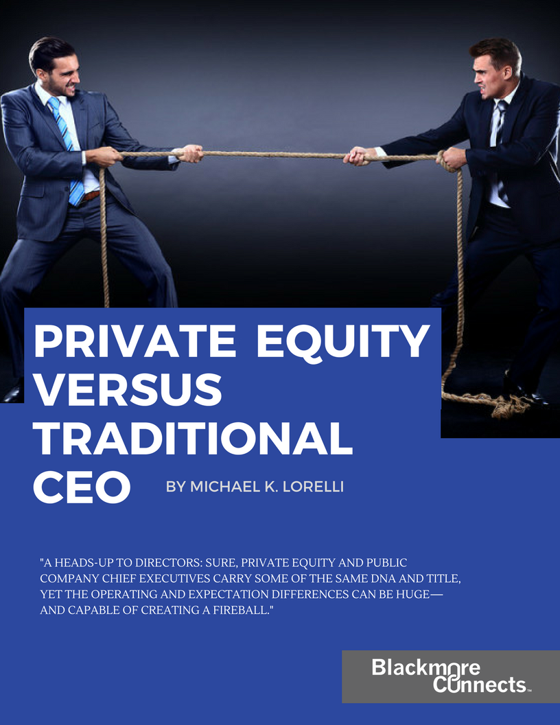 Private Equity vs Traditional CEO