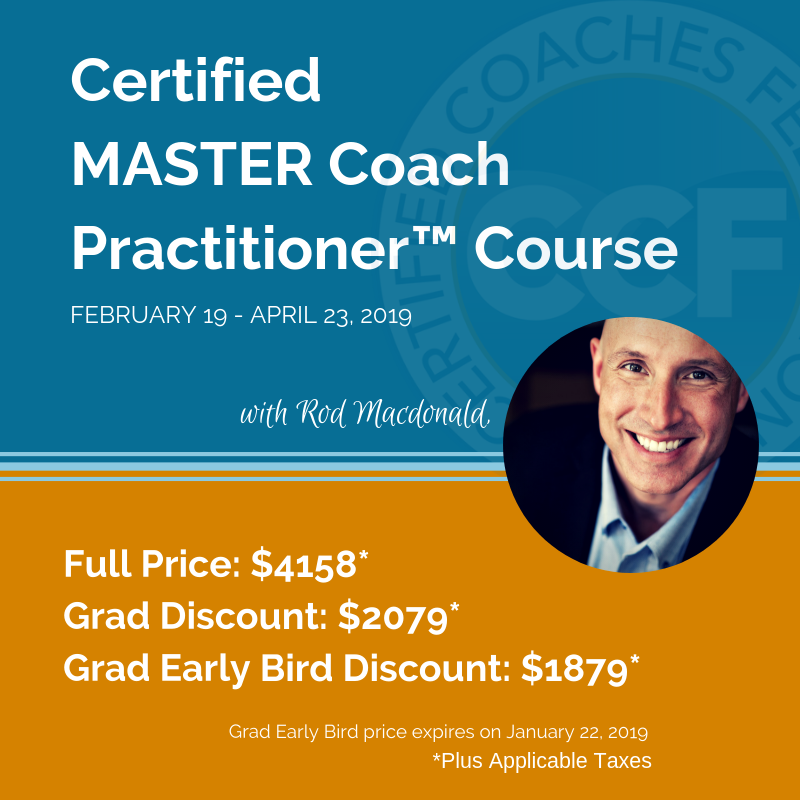 Certified Master Coach Practitioner course