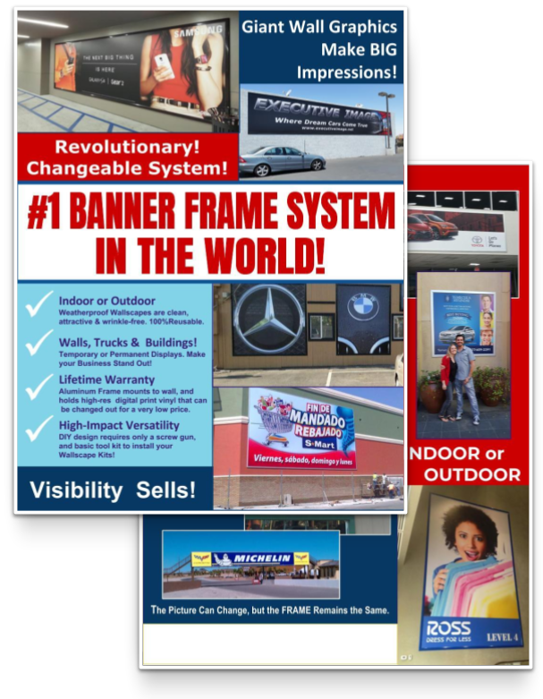 Printable Banner Frame Flyer