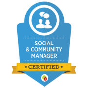 Social & Community Manager   Certified Digital Marketing Professional   Digital Marketer