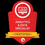 Analytics & Data Specialist   Certified Digital Marketing Professional   Digital Marketer
