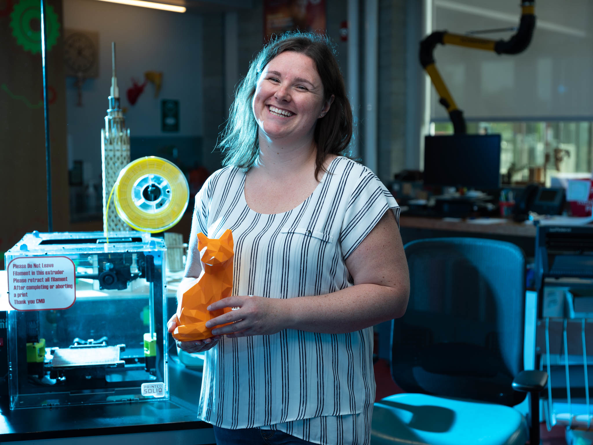 Businesses are free to use the 3d printer, laser cutter, and many other innovative tools at the Innisfil ideaLAB & Library