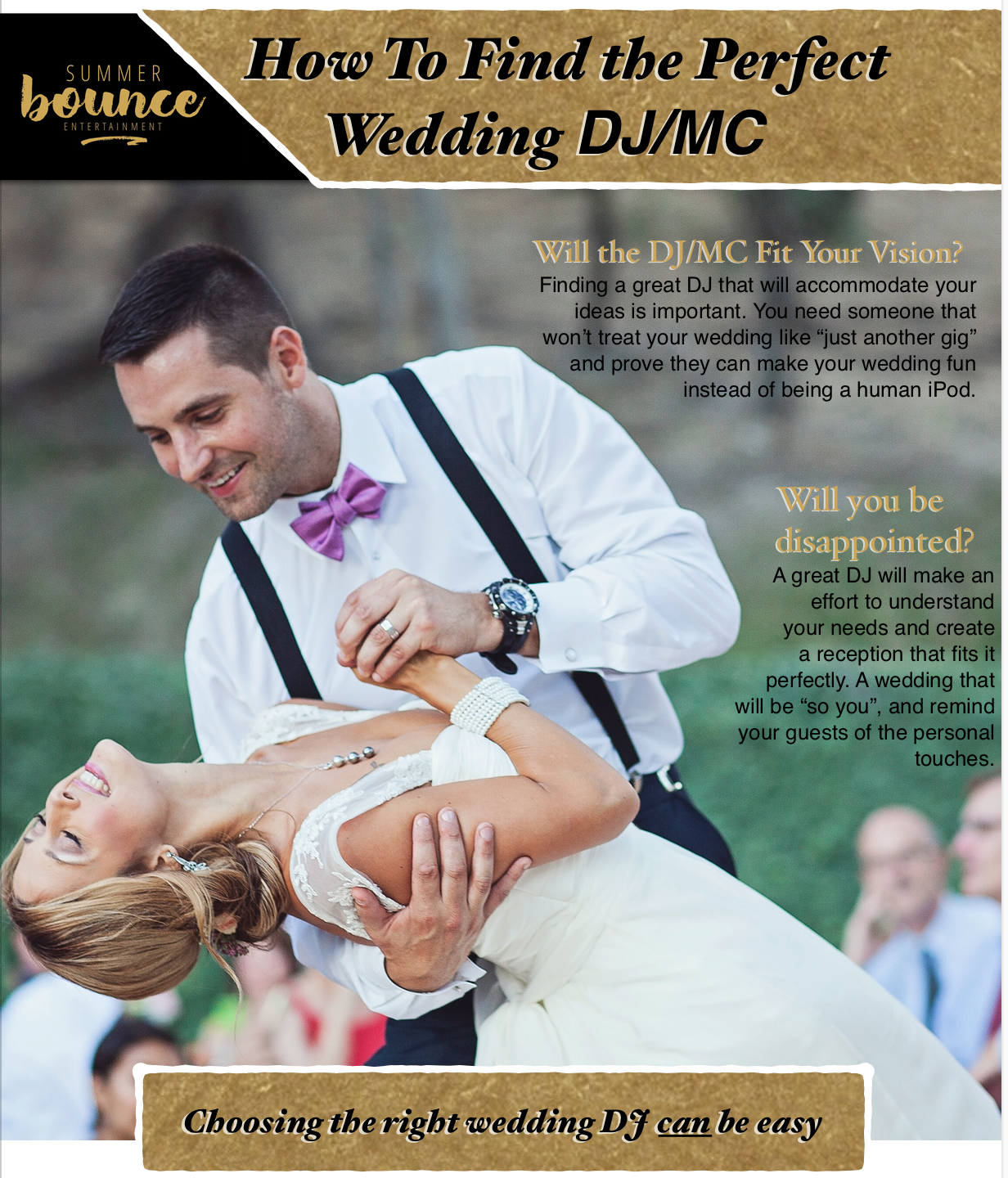 3step to finding the perfect wedding DJ/ MC