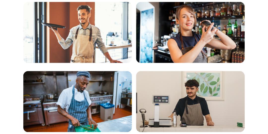 personnel salle bar cuisine vente