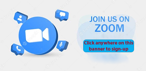 Click the banner to open teh Zoom sign-up page