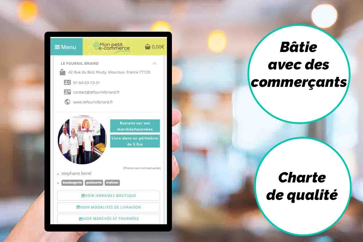 Boutique en ligne pour les petits commerces