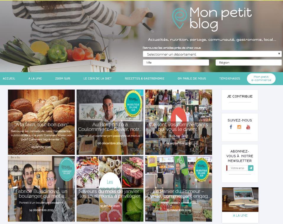 Mon petit blog pour la promotion des commerçants de proximité