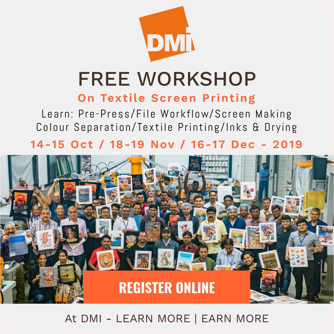 FREE Workshop on Graphics Screen Printing at DMI