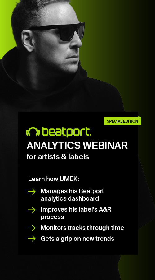 On Tuesday, 22nd of December at 6:30 PM CET, UMEK will be hosting a 30-minute webinar about how he and his manager Vasja have been using data from Viberate analytics to plan releases and discover new artists.