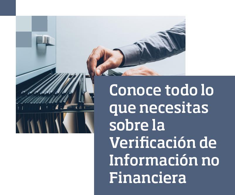 Conoce todo lo que necesitas sobre la Verificación de Información no Financiera