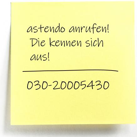 Post-it-astendo-anrufen