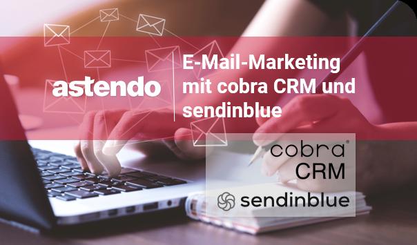 Logo von sendinblue und cobra CRM