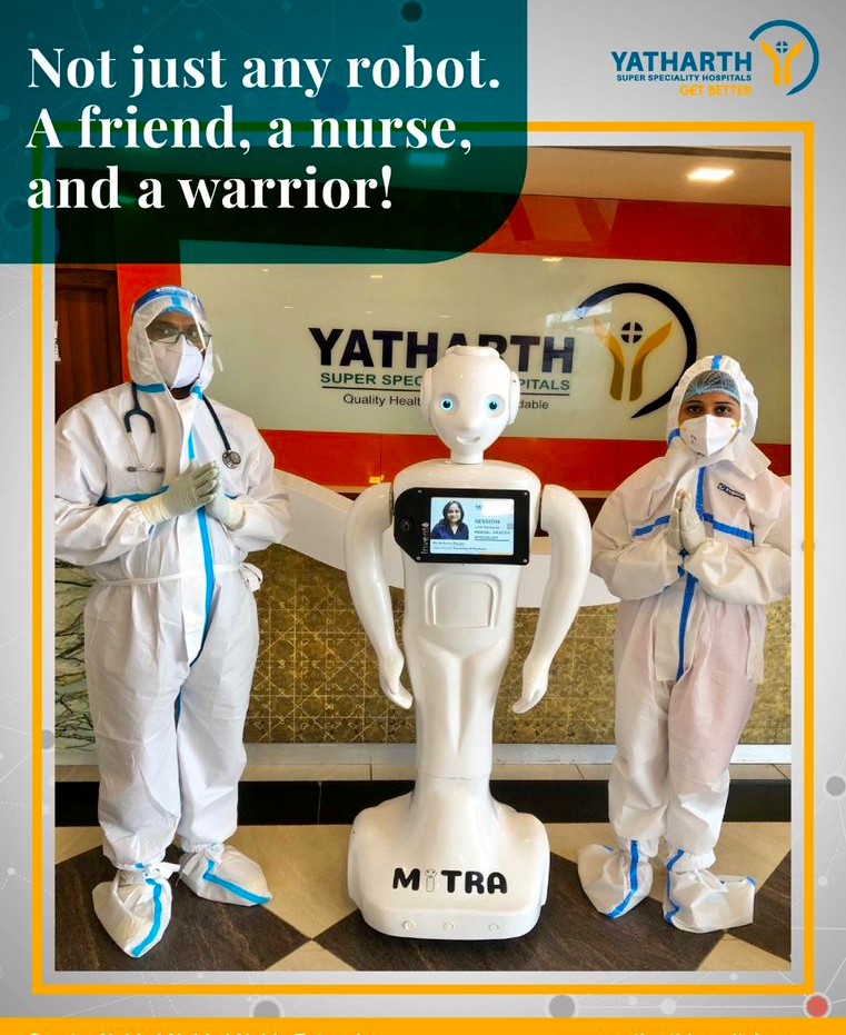 Mitra Robot At Yatarth hospital