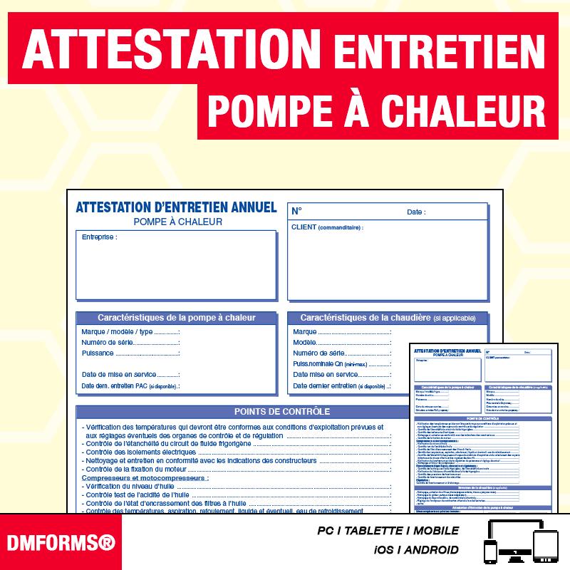 Attestation d'Entretien - PAC