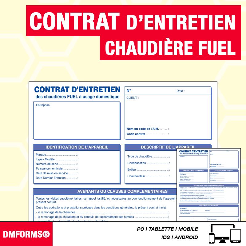 Contrat d'Entretien - Fuel