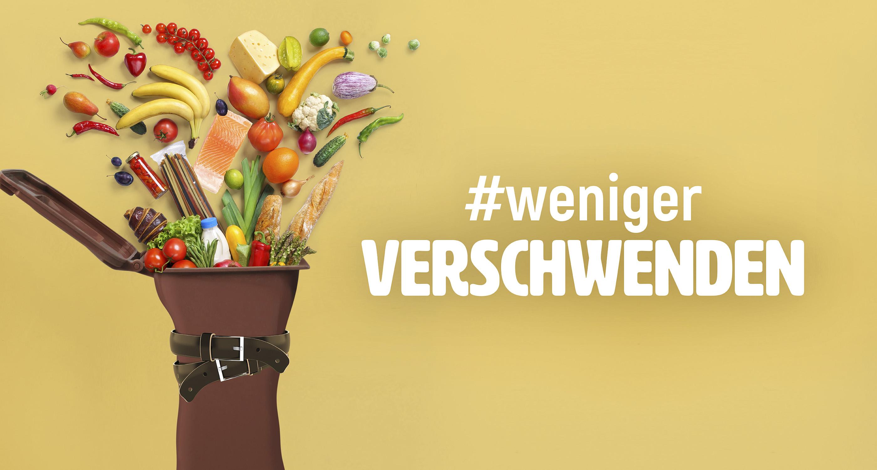 Bild der Sensibilisierungskampagne gegen Lebensmittelverschwendung