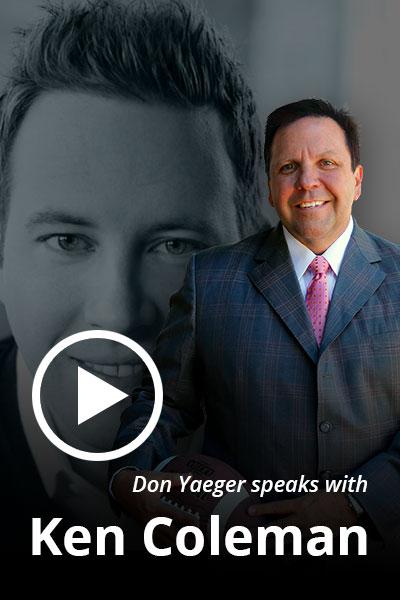 Don speaks with Ken Coleman