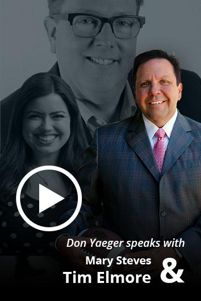 Don speaks with Tim Elmore & Mary Steves