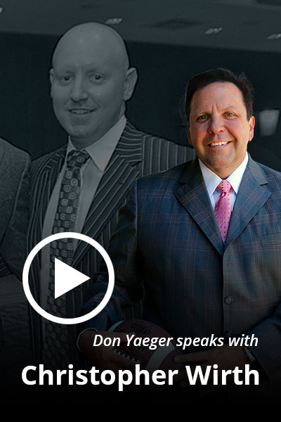 Don Yaeger speaks with Christopher Wirth