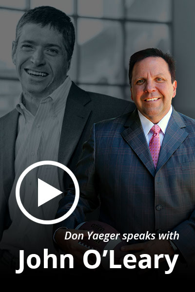 Don Yaeger speaks with John O'Leary